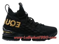 info for ede43 0a4fb Nike LeBron 15 XV Chaussures Nike Prix Pas Cher Pour Homme Noir Or 897648-