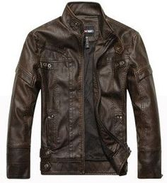 Motorcycle Leather Jackets Men Autumn Winter Leather Clothing Men Leather Jackets Male Business casual Coats Brand New clothing