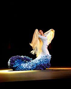 Bata de cola y mantón Flamenco Costume, Flamenco Skirt, Flamenco Dancers, Belly Dancers, Sandra Cisneros, Samba, Tango, Spanish Dancer, Belly Dancing Classes