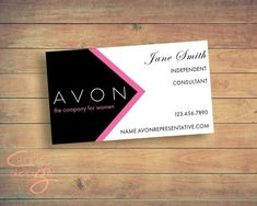 Avon Sales Representative Business Card Digital Design Etsy In 2021 Printable Business Cards Avon Business Avon Sales