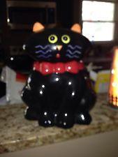 Black Cat Halloween Cookie Jar