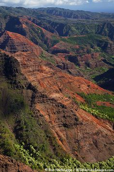 Waimea Canyon, also called the Grand Canyon of the Pacific, Kauai, Hawaii