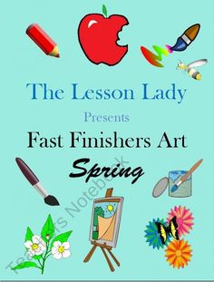Spring Fast Finishers Art Packet | Lesson Lady | {2-5}