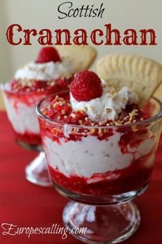 Scottish Cranachan With a Wee Twist – Rezepte Welsh Recipes, Uk Recipes, Scottish Recipes, Cooking Recipes, English Recipes, British Recipes, Turkish Recipes, Scottish Desserts, Scottish Dishes