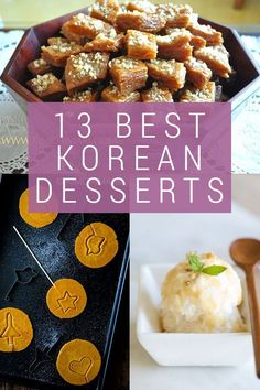 13 Best Korean desserts from traditional to modern. Get time-tested recipes for classic favorites like sweet rice cakes and tea cookies fit for royalty. And have fun recreating popular street snacks like shaved ice and sponge candy at home. Best Korean Food, South Korean Food, Korean Street Food, Korean Rice Cake, Korean Sweets, Korean Dessert, Rice Cake Recipes, Sheet Cake Recipes, Dessert Recipes