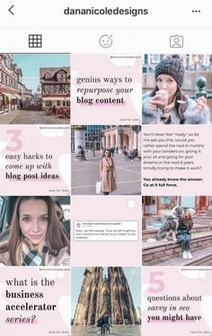 20+ of The Hottest Instagram Feed Themes to Re-Create Yourself! Instagram Feed Planner, Feminine Energy, Build Your Brand, Make Money Blogging, 6 Years, Create Yourself, Branding, Creative, Pretty