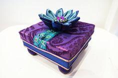 Gift box keepsake box purple and turquoise by JoJosArtisticDesign, $52.00