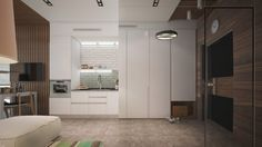 Mirrored wall and door - 6 Beautiful Home Designs Under 30 Square Meters