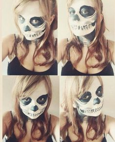 Glam skeleton makeup, easy to do and looka great