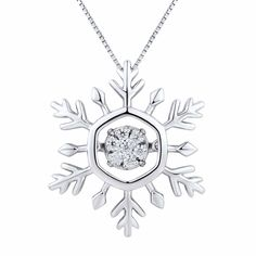 Christmas is coming. Time to make your wish lists, and pin the presents you've been eyeing. Like this sterling silver snowflake pendant that has all the bling you need to sparkle, shimmer and shine. Adding yourself to your holiday list? That's #JoyWorthGiving.