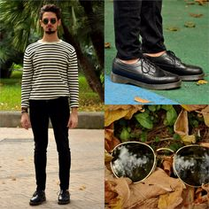 Easy Saturday morning. Wearing: DENIM & SUPPLY RALPH LAUREN striped sweater, ZARA black skinny jeans and DR. MARTENS shoes. Find out more photos on my blog: http://www.theshowroom21.com/2013/11/easy-saturday-morning.html?m=0