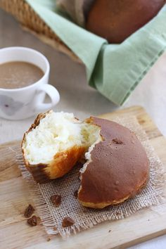 Mexican Coffee Bun, these buns are coated with coffee-flavored topping and stuffed with butter inside of the bun. The best bun EVER!