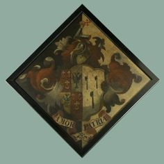 Hatchment, with the arms of Pretor-Pinney. Artist: BRITISH SCHOOL
