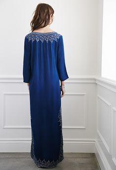 Embroidered High-Slit Maxi Dress | Forever 21 - 2000131577