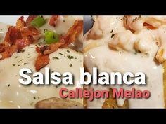 Salsa blanca con base de queso para pechugas, mofongos, pastas etc - YouTube Carne Asada, Base, Chicken, Meat, Youtube, Food, White Sauce Pasta, Cheese Sauce, Breast