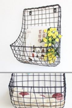 54 Trendy basket hanging on wall entryway Storage Baskets, Storage Organization, Hanging Wall Baskets, Letter Rack, Entryway Wall, Ball Decorations, Flower Ball, Team Gifts, Floating Frame