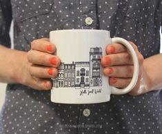NYC Architecture Mug by Hello Small World, Coffee Cup, Tea, Mug, New York Mug…