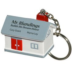 House Key Chain Stress Reliever Real Estate