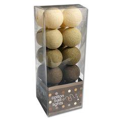 Cotton Ball Lights bruin - beige - crème