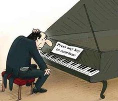 Piano Humor cartoon that computer users understand! PRESS ANY KEY TO CONTINUE. On A Lighter Note - Piano And Theory Lessons