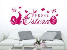 #Wandtattoo Oster Frohe Ostern Falter #Deko #Ostern #Osterdeko