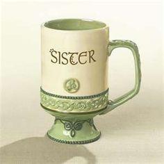 "irish ""sister"" coffee mug"