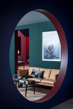 Carl Hansen & Son mock apartment at Salone del Mobile, Milan design week