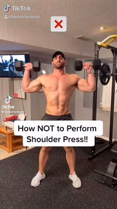 How NOT to perform a Shoulder Press!