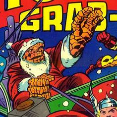 The Thing Ben Grimm Santa Hat Christmas