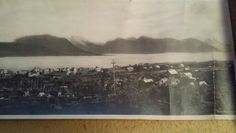 """The right side of the 8"""" X 28 """" picture of Sortland Norway. My Grandpa Steiro brought this when he immigrated in 1902."""