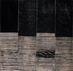 """Lygia Pape: """"Untitled (from the series Weaving),"""" 1959; Woodcut on paper"""