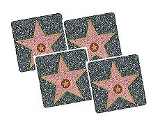 Keep in theme with these Hollywood Walk of Fame Star coasters. Write guests names on the coasters so nobody's drink gets mixed up. Hollywood Theme, Hollywood Walk Of Fame, Hollywood Party Decorations, Cute Bat, Hollywood Boulevard, Volunteer Appreciation, Big Star, Bat Mitzvah, Game Room