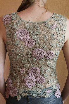 Fabulous Crochet a Little Black Crochet Dress Ideas. Georgeous Crochet a Little Black Crochet Dress Ideas. Mode Crochet, Crochet Art, Freeform Crochet, Crochet Woman, Crochet Motif, Crochet Crafts, Crochet Flowers, Crochet Leaves, Russian Crochet