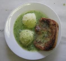 Traditional pie and mash.