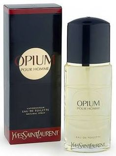 Opium Pour Homme Yves Saint Laurent for men--Top notes are black currant and star anise; middle notes are galanga and pepper; base notes are tolu balsam, atlas cedar and bourbon vanilla.