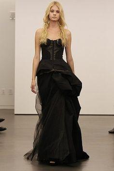 Black Vera Wang wedding dresses