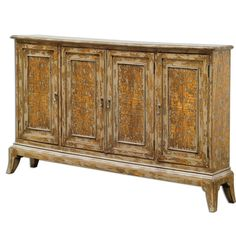 """Uttermost 25601 Maguire 36"""" x 69"""" Cabinet Distressed Wood Furniture Storage Cabinets"""