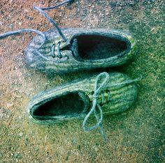 Husband gift Wool shoes sneakers slippers от BureBureSlippers