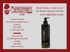 Daily treatment shampoo for hair and scalp with Tea Tree oil. £13.95. Buy online or at one of #TGB London shops! http://wu.to/QfEbaK #BarberShop