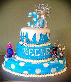 "If you are thinking about have a Frozen party, here are some awesome cake inspirations. If you want more, check out ""More Froze Party Cake. Frozen Party Cake, Disney Frozen Cake, Disney Frozen Birthday, Disney Cakes, Party Cakes, Cupcakes, Cupcake Cakes, Pastel Frozen, Party Fiesta"