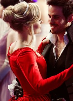 """Emma Swan and Captain Killian Hook from  """"Once Upon a Time"""" (season 3)"""