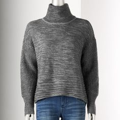 Simply Vera Vera Wang Marled Ombre Sweater - Women's