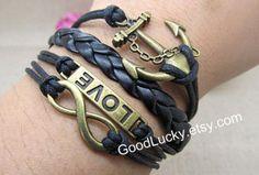 JewwlryLovers braceletAncient bronzeinfinity wish by goodlucky, $9.99