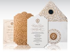 Brazilian Castle Wedding Invitation by Atelier Isabey , via Behance