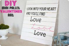 Mini Pallet Valentine Art