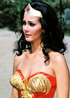 The 70's icon Lynda Carter as the immortal Wonder Woman! A plus!  yes I know the outfit was OUT THERE but she was our first female super hero . Loved that show when I was little