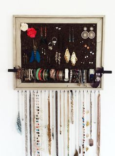 ETSY- jewelry organizer by aftertheleavesfall $70  can customize size and color
