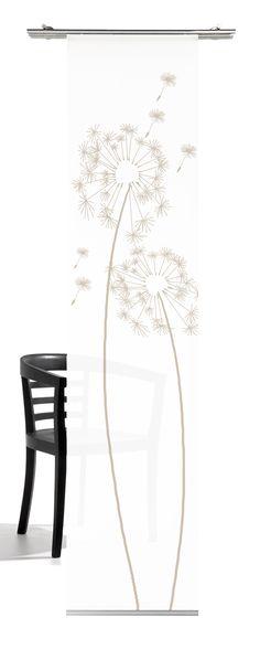 Gardinia Fl/ächenvorhang Natur-optik Dekor teak 60 x 245 cm