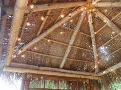 diy outdoor tiki hut using repurposed materials, home improvement, outdoor living, Ceiling of Tiki Hut Backyard Gazebo, Diy Pergola, Bali Huts, Tiki Bar Decor, Outdoor Cabana, Unique Restaurants, Tiki Hut, Outdoor Living, Outdoor Decor