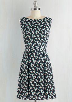 Cuteness on Cue Dress | Mod Retro Vintage Dresses | ModCloth.com Size Large - SWAPPED